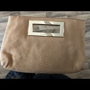 NWOT! Gorgeous MK Tan Python Skin Leather Clutch